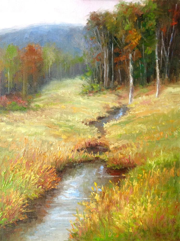 """After the Rain"" original fine art by Nancy Wahl"