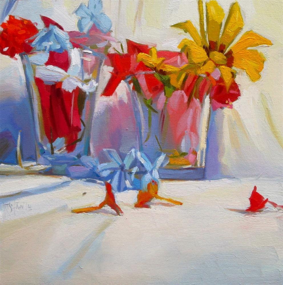 """""""Flower glasses"""" original fine art by Víctor Tristante"""
