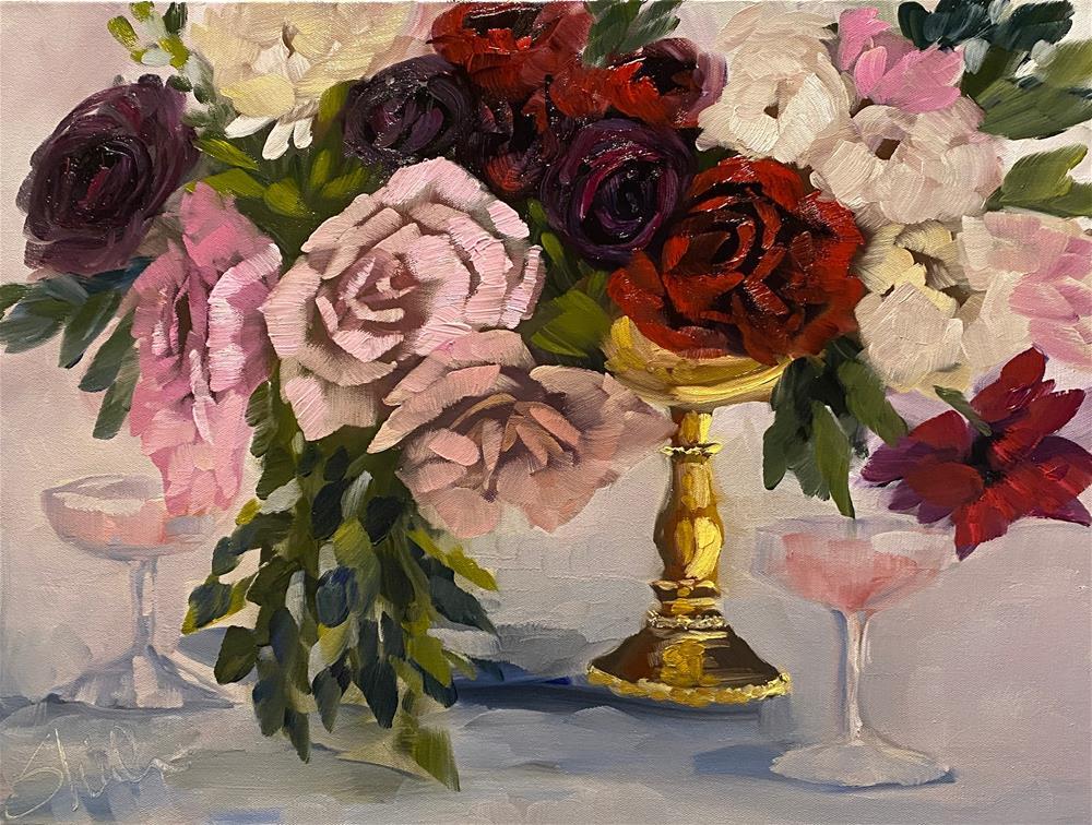 """Pink Bubbly"" original fine art by Sheila Huyett"