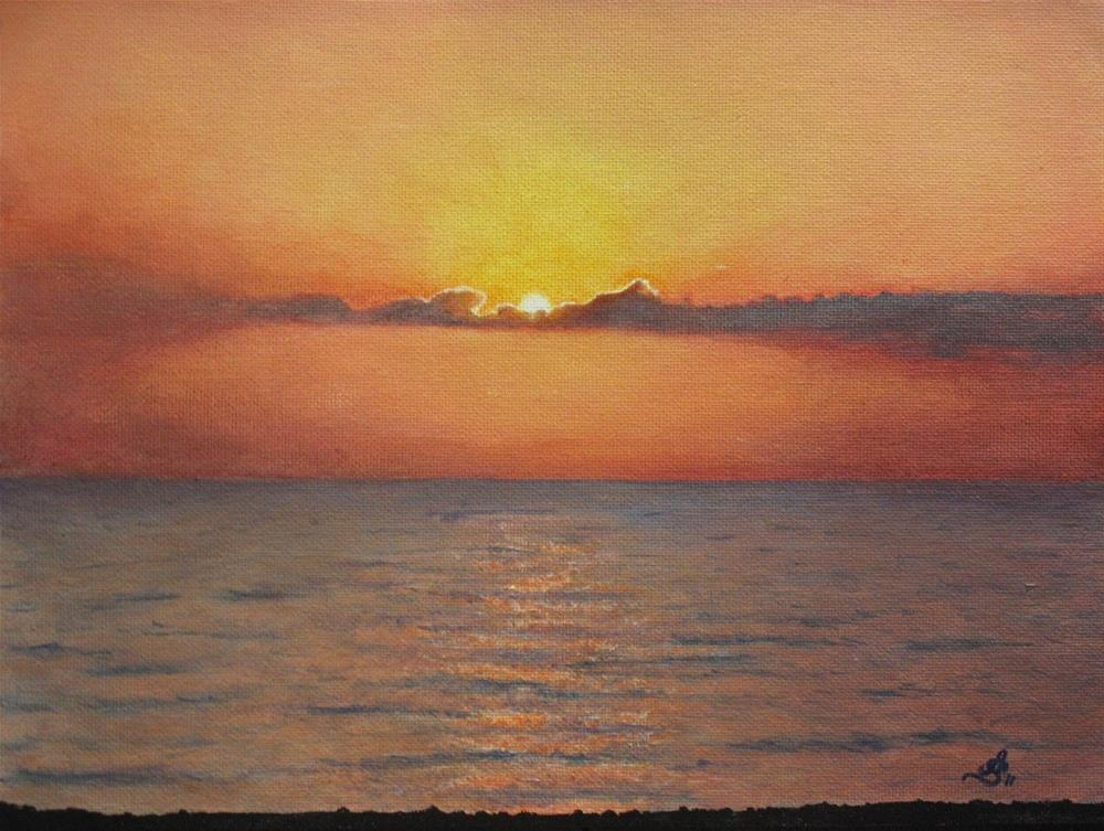 """Sunrise. Antibes, France"" original fine art by Anna Starkova"