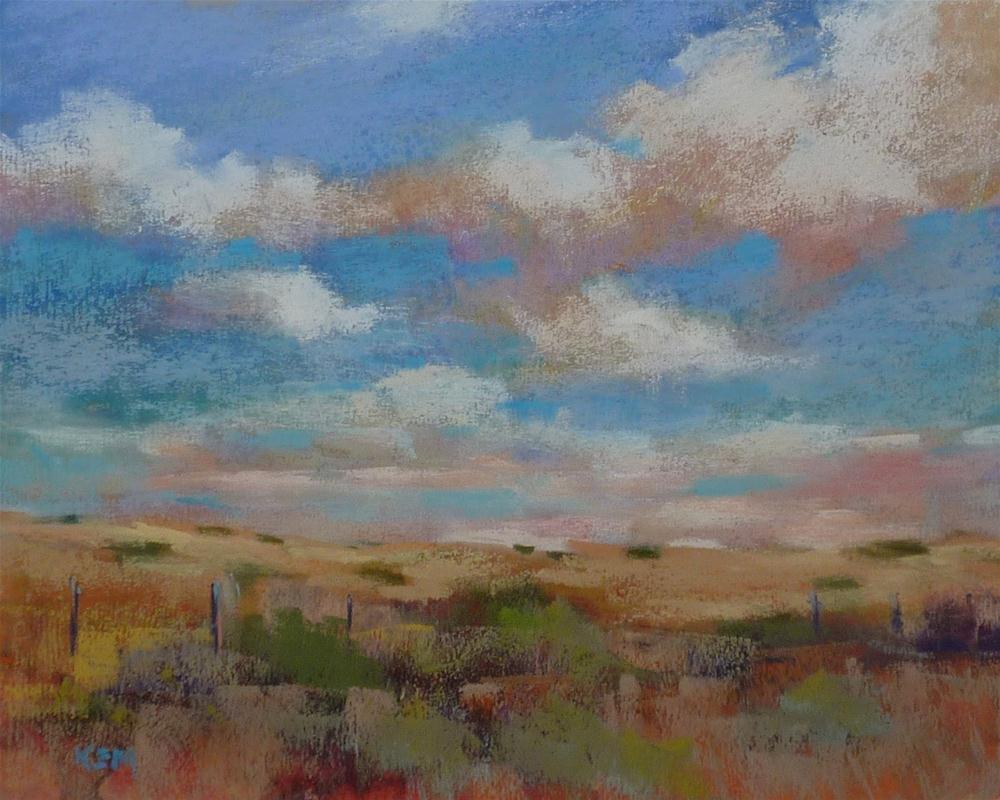 """Cloud Show California Landscape"" original fine art by Karen Margulis"