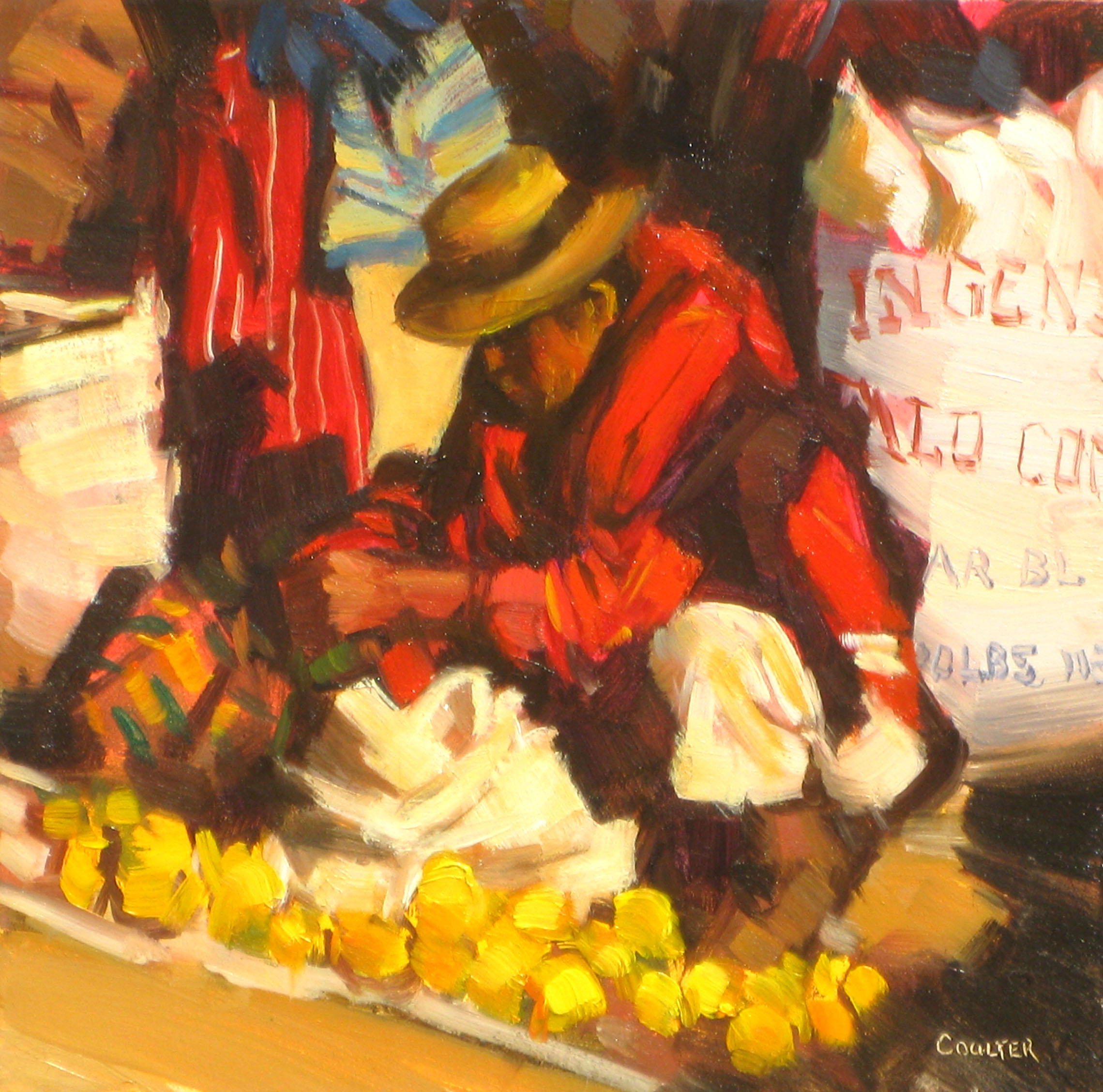 """FRESH PICKED ORANGES"" original fine art by James Coulter"