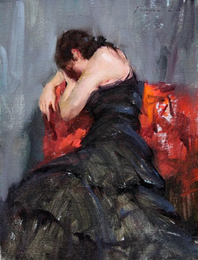 """Rest for a moment"" original fine art by Fongwei Liu"
