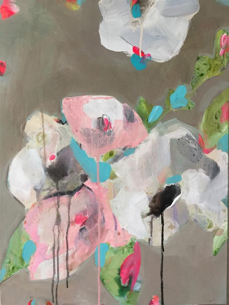 """""""91 Abstracted Lisianthus"""" original fine art by Jenny Doh"""