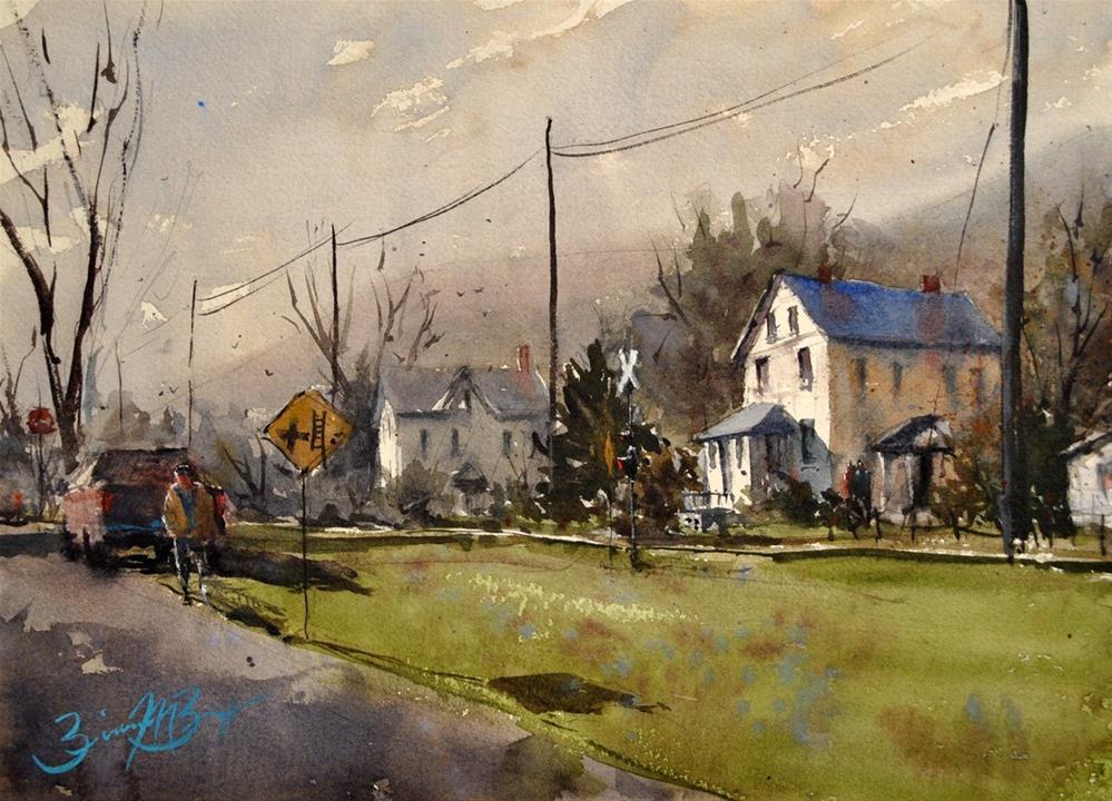 """""""Unnionville"""" original fine art by Brienne M Brown"""