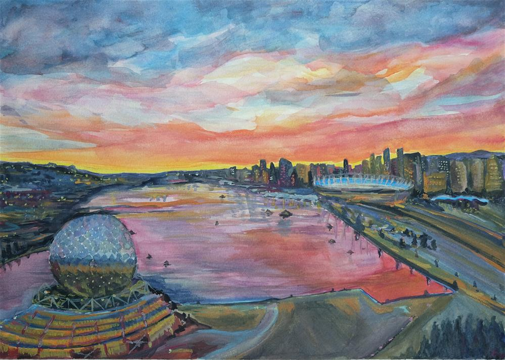 """Vancouver BC"" original fine art by Laura Denning"