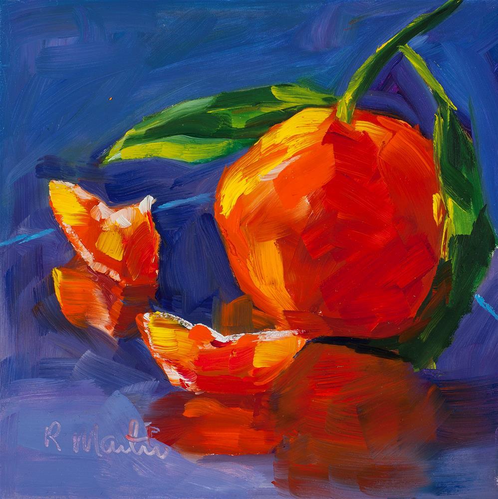 """""""Reflections of Orange"""" original fine art by Rebecca Martin"""