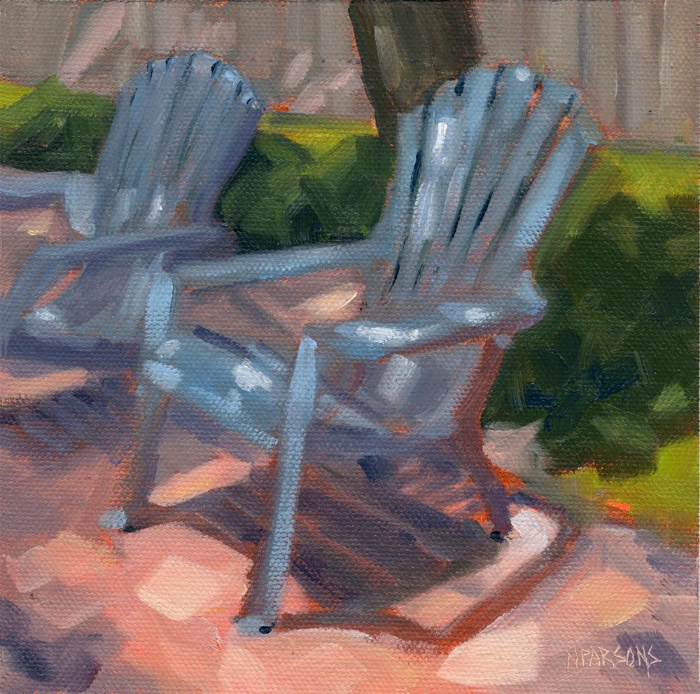 """""""Shady Characters"""" original fine art by Nancy Parsons"""
