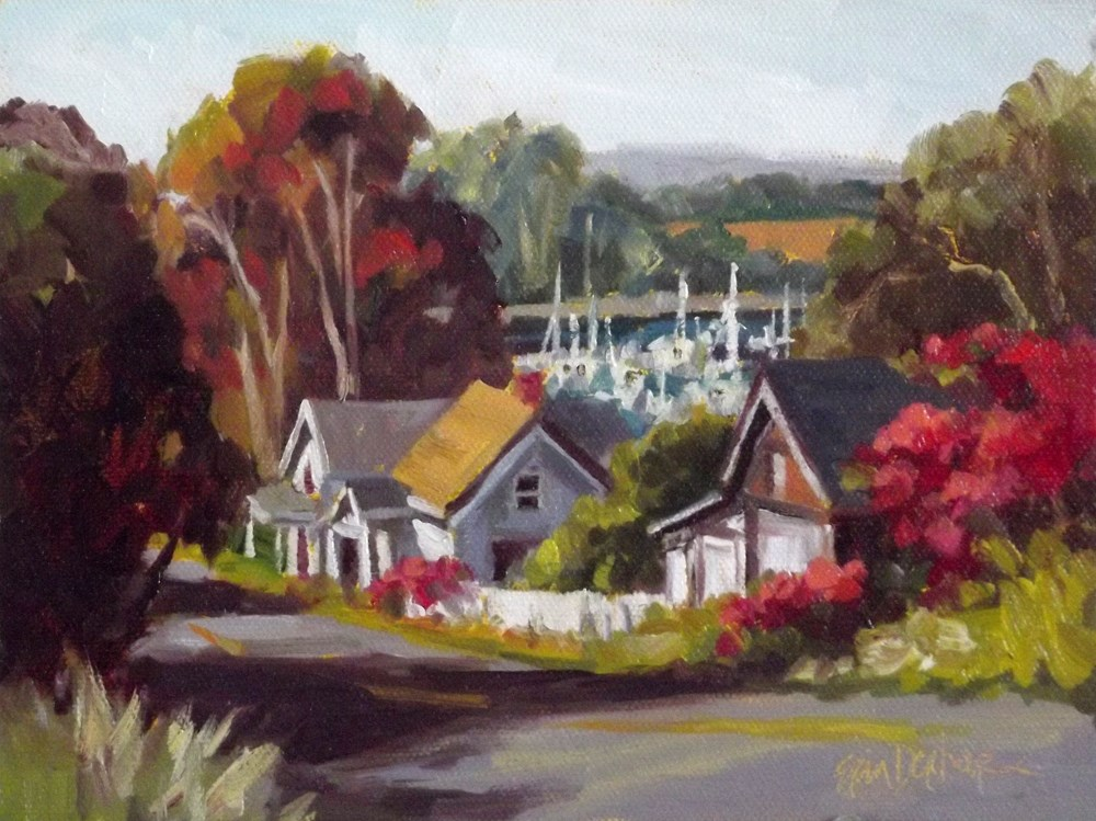 """South Harbor Drive"" original fine art by Erin Dertner"