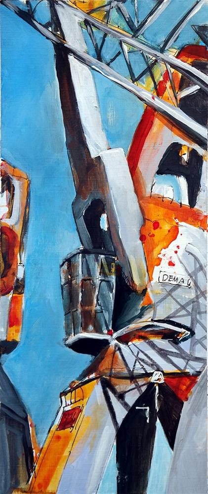 """2516 Crane 04"" original fine art by Dietmar Stiller"