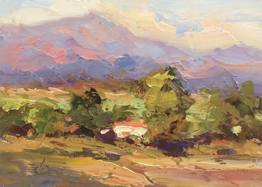 """CALIFORNIA VISTA"" original fine art by Tom Brown"