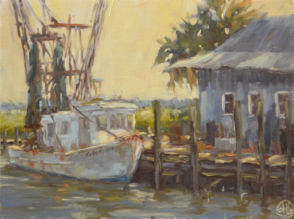 """""""dock life"""" original fine art by Dottie  T  Leatherwood"""