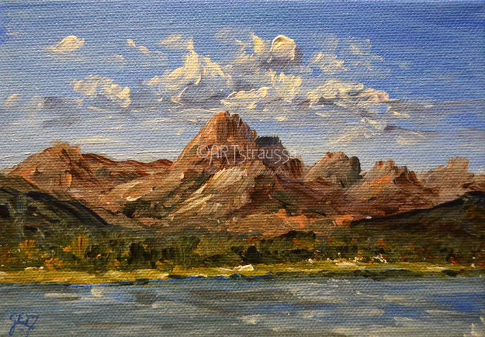"""Mt Lorenz (Charity)"" original fine art by Gloria Ester"