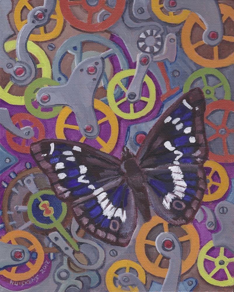 """""""Clockwork Butterfly No. 14"""" original fine art by Randal Huiskens"""