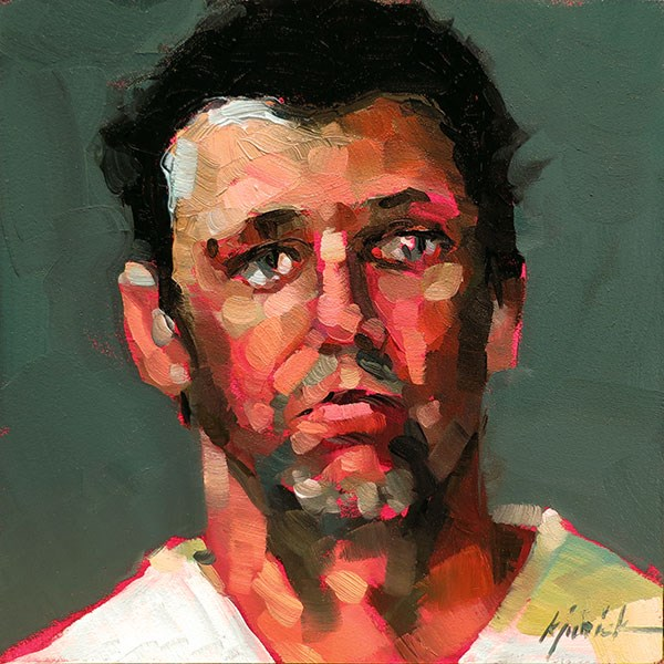 """200 Faces, No. 140"" original fine art by Karin Jurick"
