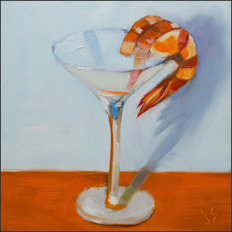 """Shrimp Cocktail - Paint It White Challenge"" original fine art by Johnna Schelling"