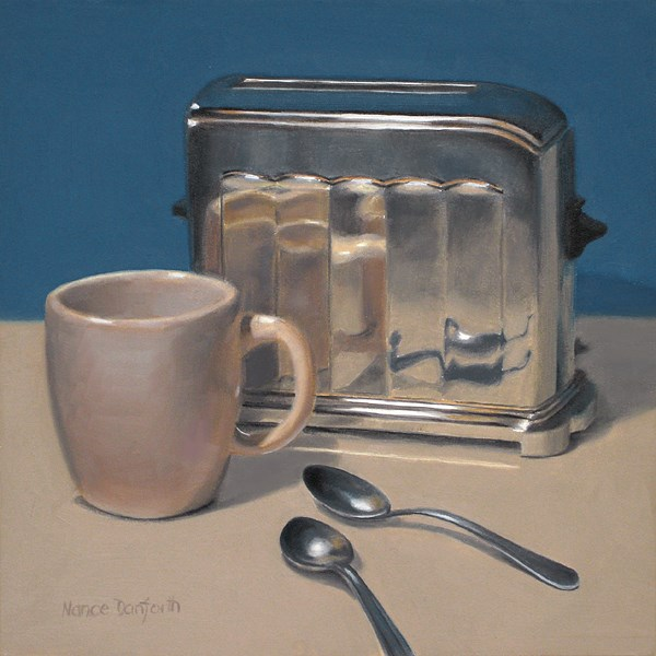 """Antique Toaster with Cup"" original fine art by Nance Danforth"