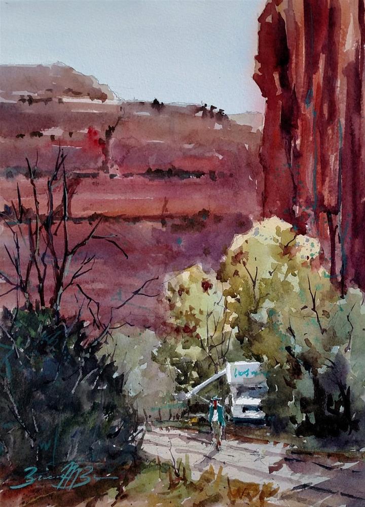 """""""Setting Up Camp"""" original fine art by Brienne M Brown"""