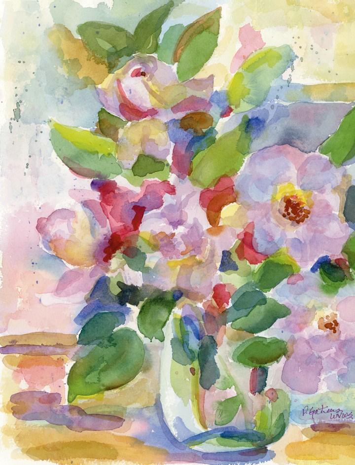 """Paper Roses"" original fine art by Pamela Gatens"