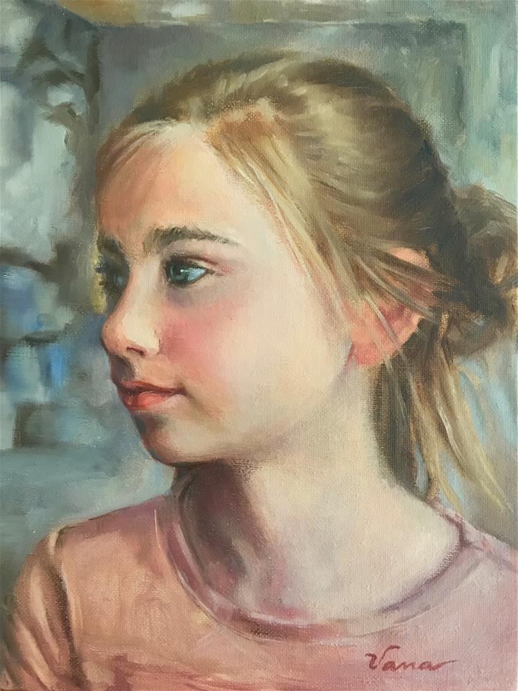 """Ainsley Almost Eleven"" original fine art by Vana Meyers"