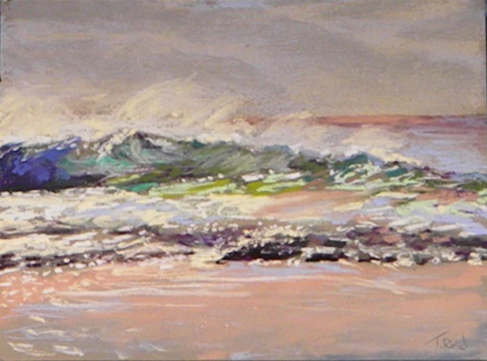 """""""Breaking waves"""" original fine art by Toby Reid"""