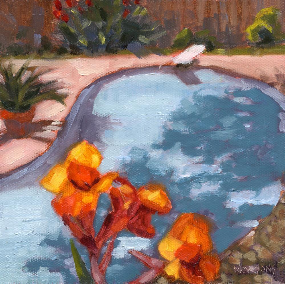 """""""Sunburned Lifeguards"""" original fine art by Nancy Parsons"""