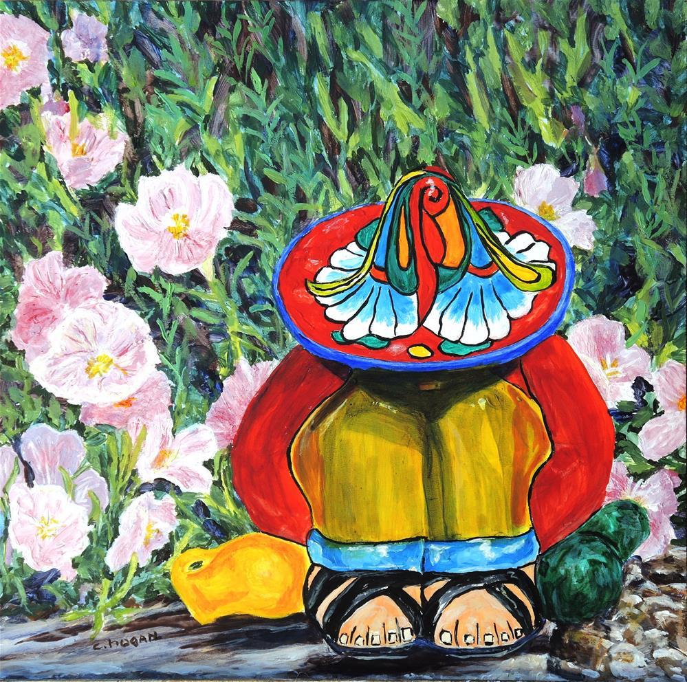 """Siesta by the Mexican Primrose"" original fine art by Candi Hogan"