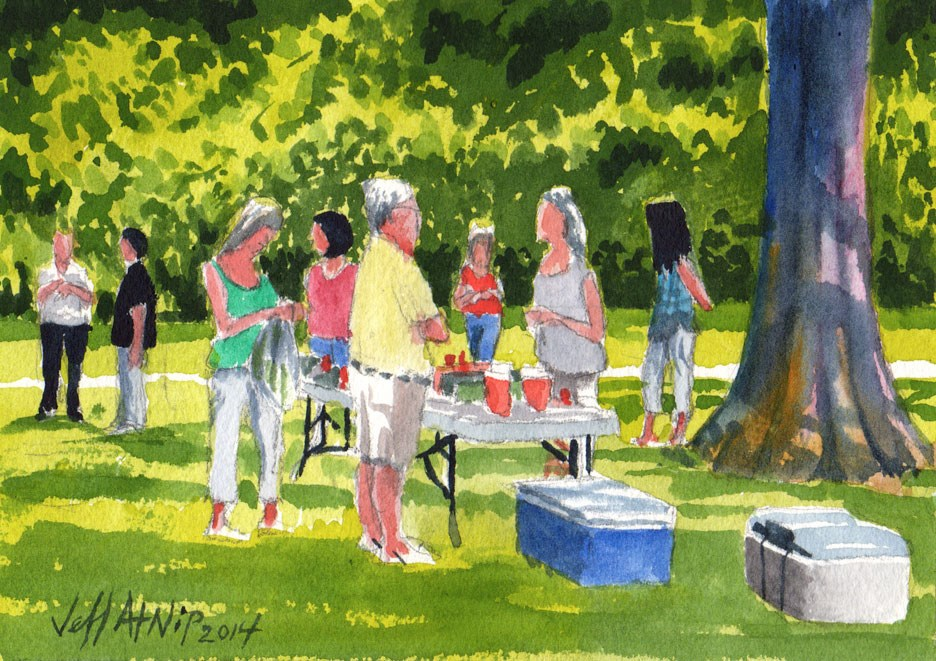 """4th of July Weekend Reunion"" original fine art by Jeff Atnip"
