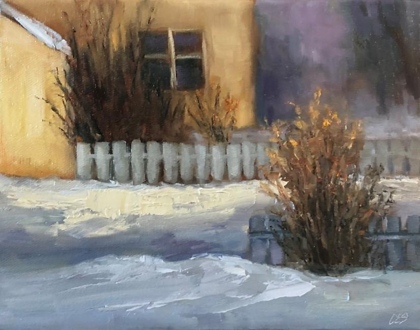 """""""Two Fences"""" original fine art by Christine E. S. Code"""