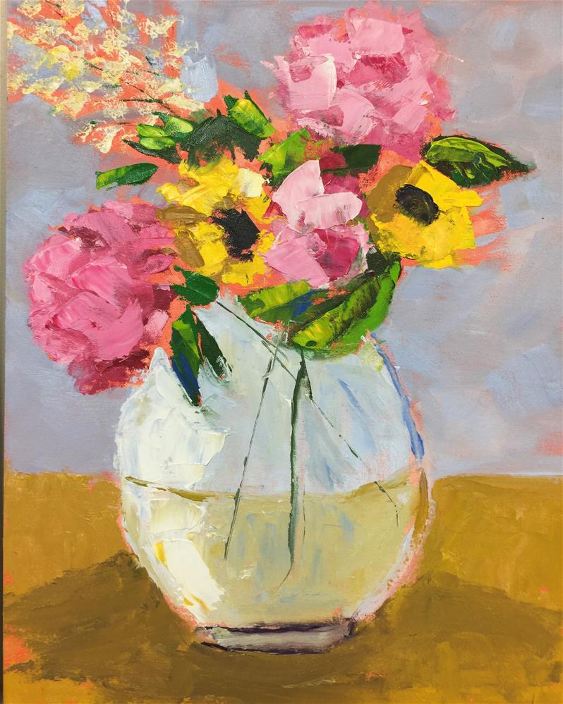 """Joyful Bouquet"" original fine art by Patty Barnes"