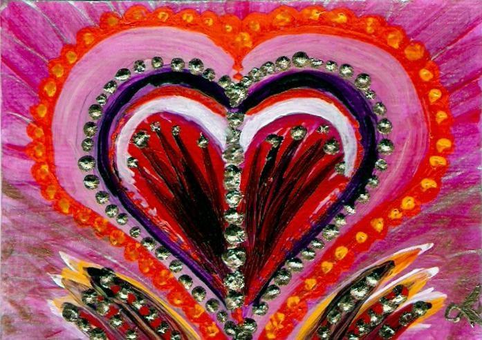 """""""3129 - Framed - HEART CREST"""" original fine art by Sea Dean"""