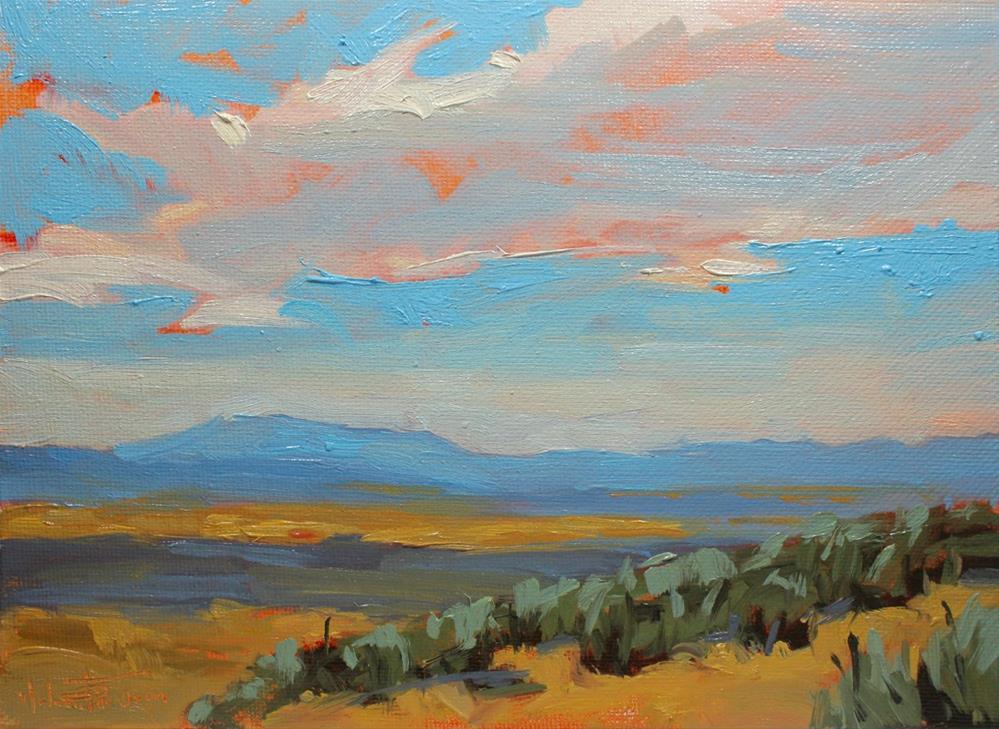 """""""Saddle Mountain Vista"""" original fine art by Melanie Thompson"""