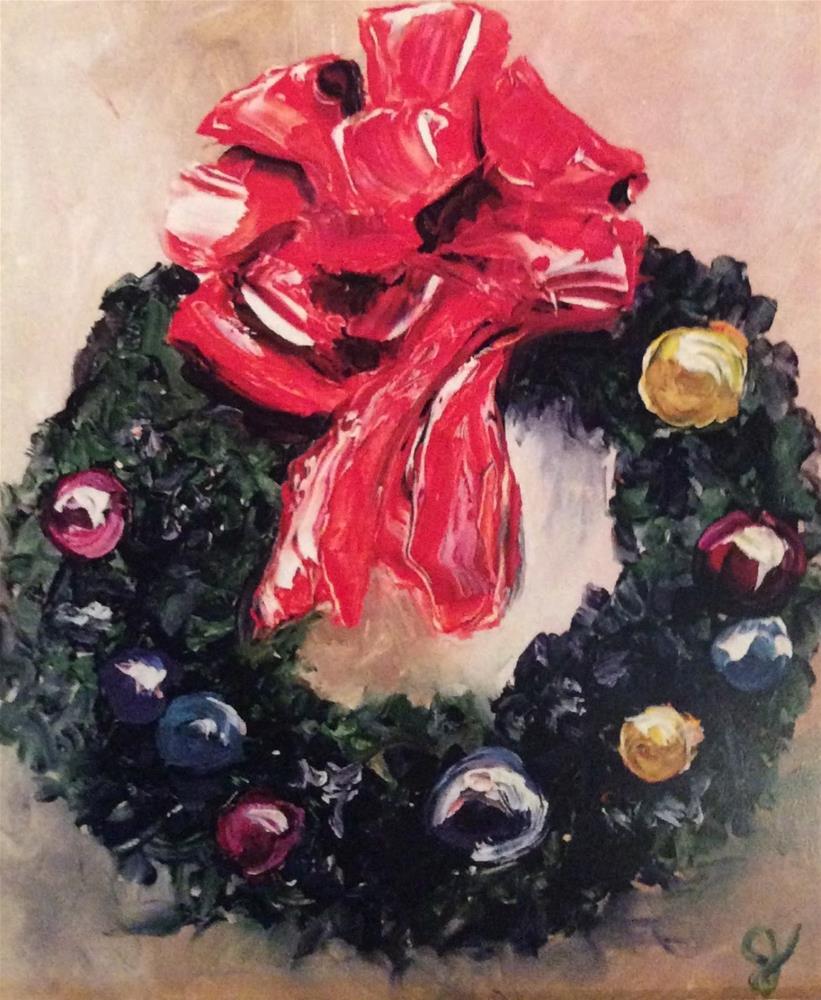 """Happy December"" original fine art by Gayle Lambeth"