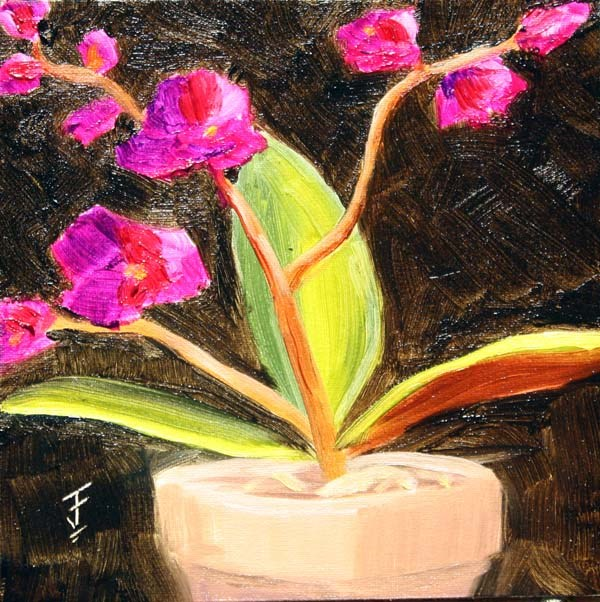 """Kay's Orchid Take 2"" original fine art by Jane Frederick"