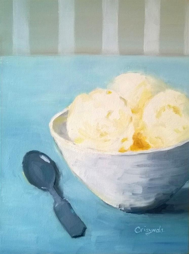 """""""#8 oil  Ice Cream Dream"""" original fine art by Crisynda Buss"""