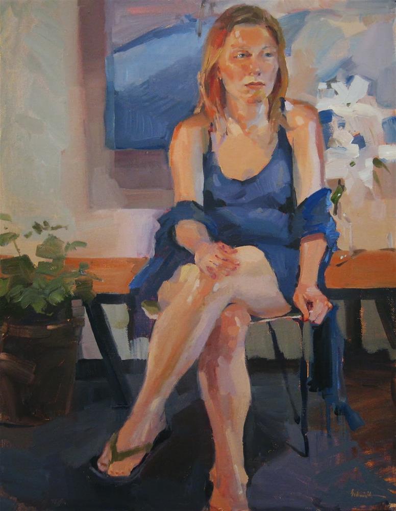 """Flowers in the Gallery"" original fine art by Sarah Sedwick"