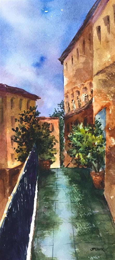 """After the Rain, Old San Juan P.R."" original fine art by Judith Freeman Clark"