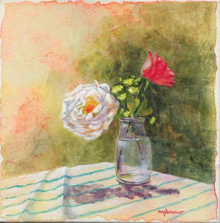 """Milk Bottle"" original fine art by Sue Furrow"