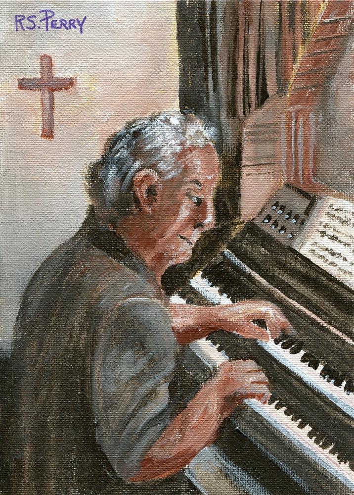 """Sunday Service "" original fine art by R. S. Perry"