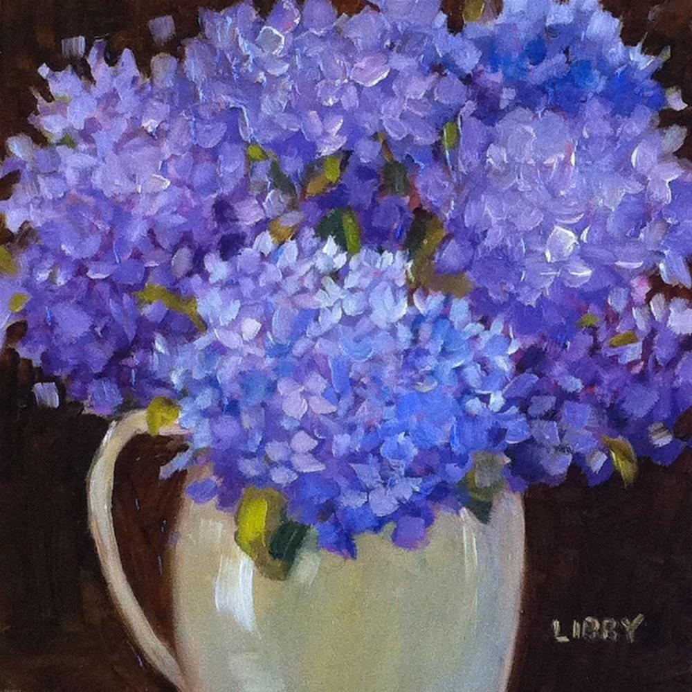 """""""Midnight Blooms"""" original fine art by Libby Anderson"""