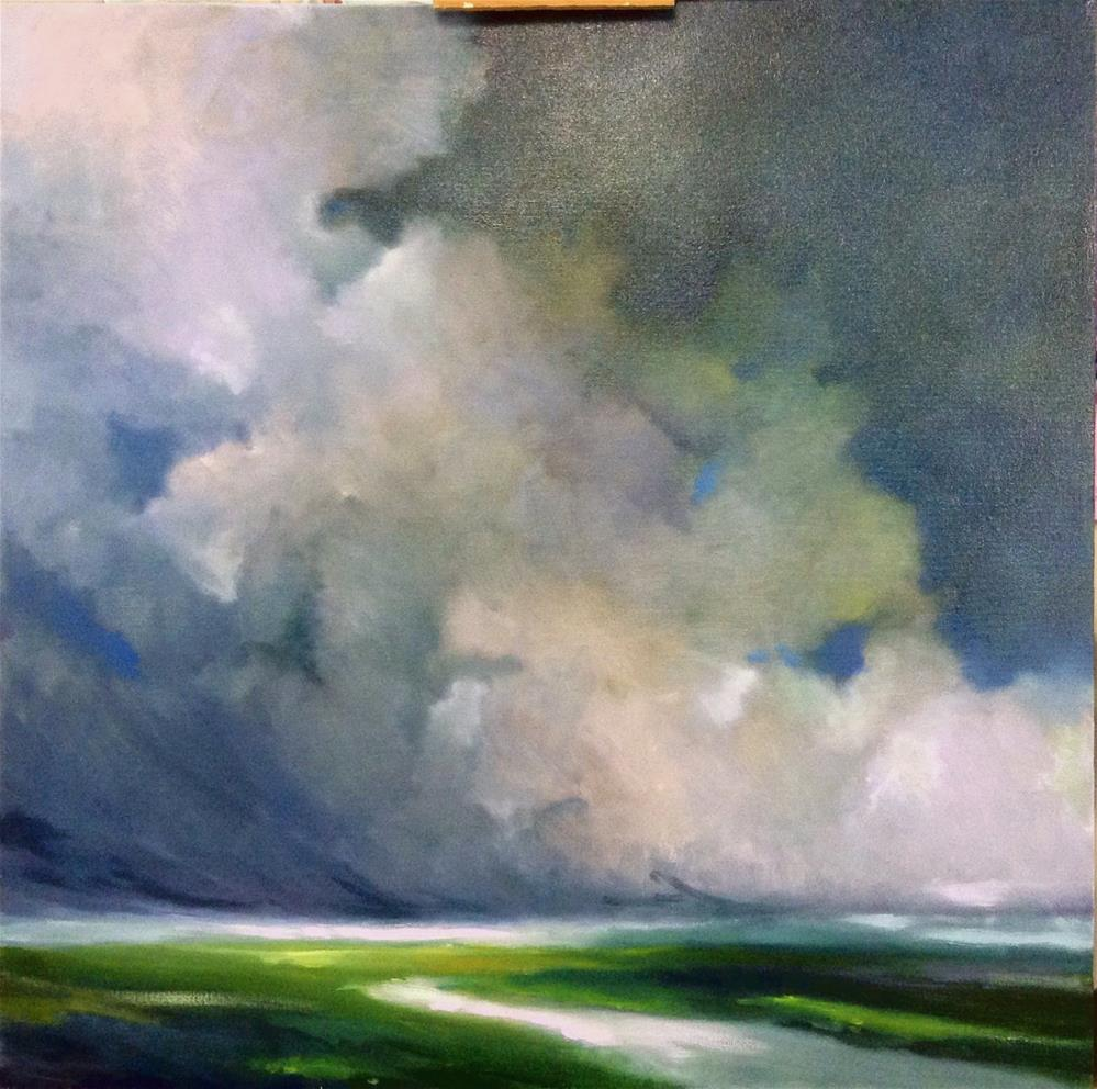 """""""Thunderhead Drama"""" original fine art by Cathy Boyd"""