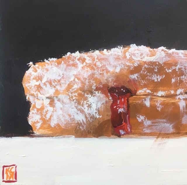 """Oooops, I Did It Again.... 6x6 inch Acrylic Painting by Kelley MacDonald"" original fine art by Kelley MacDonald"