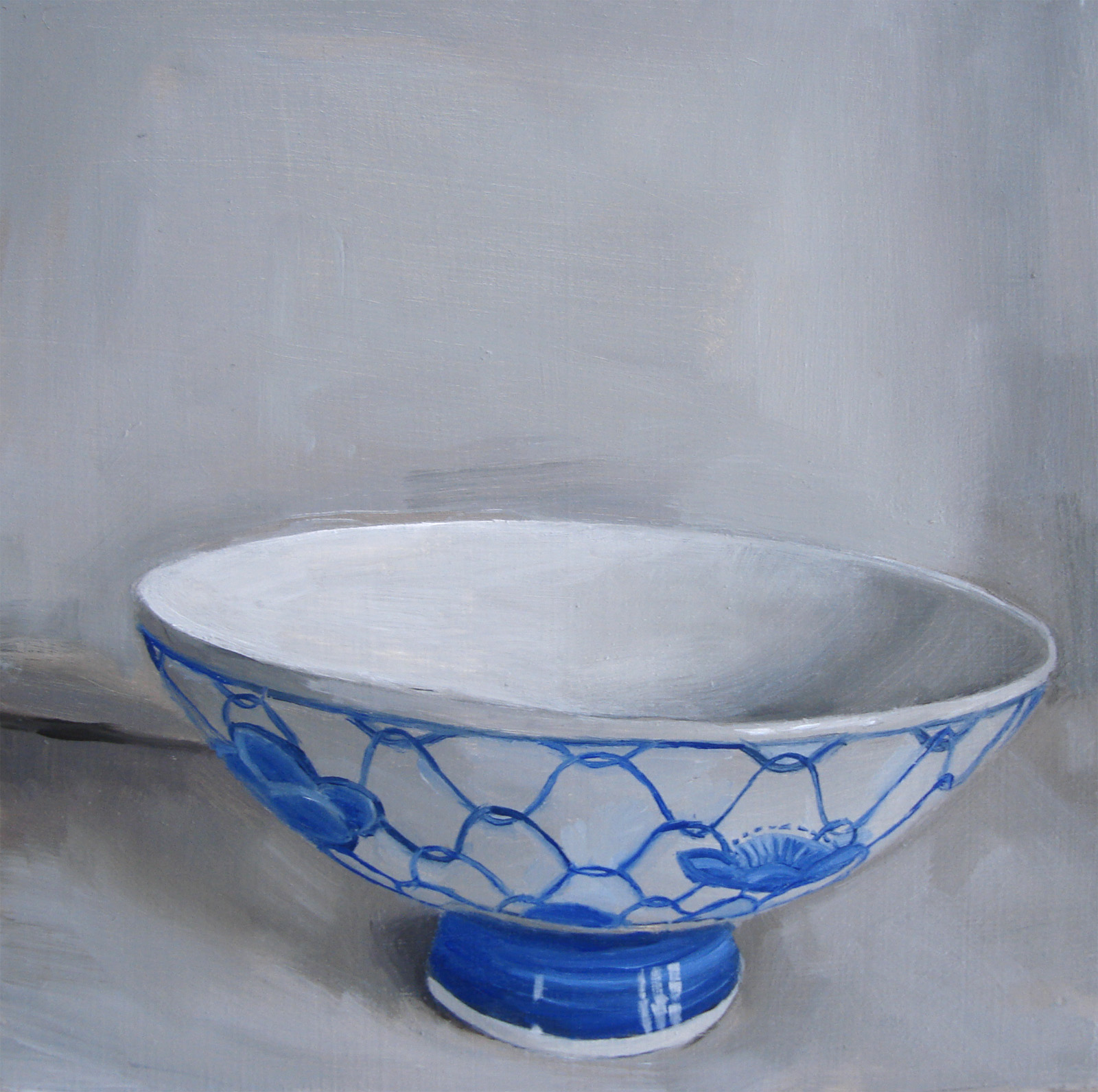 """Miniature Blue and White China Bowl (no.33)"" original fine art by Michael William"