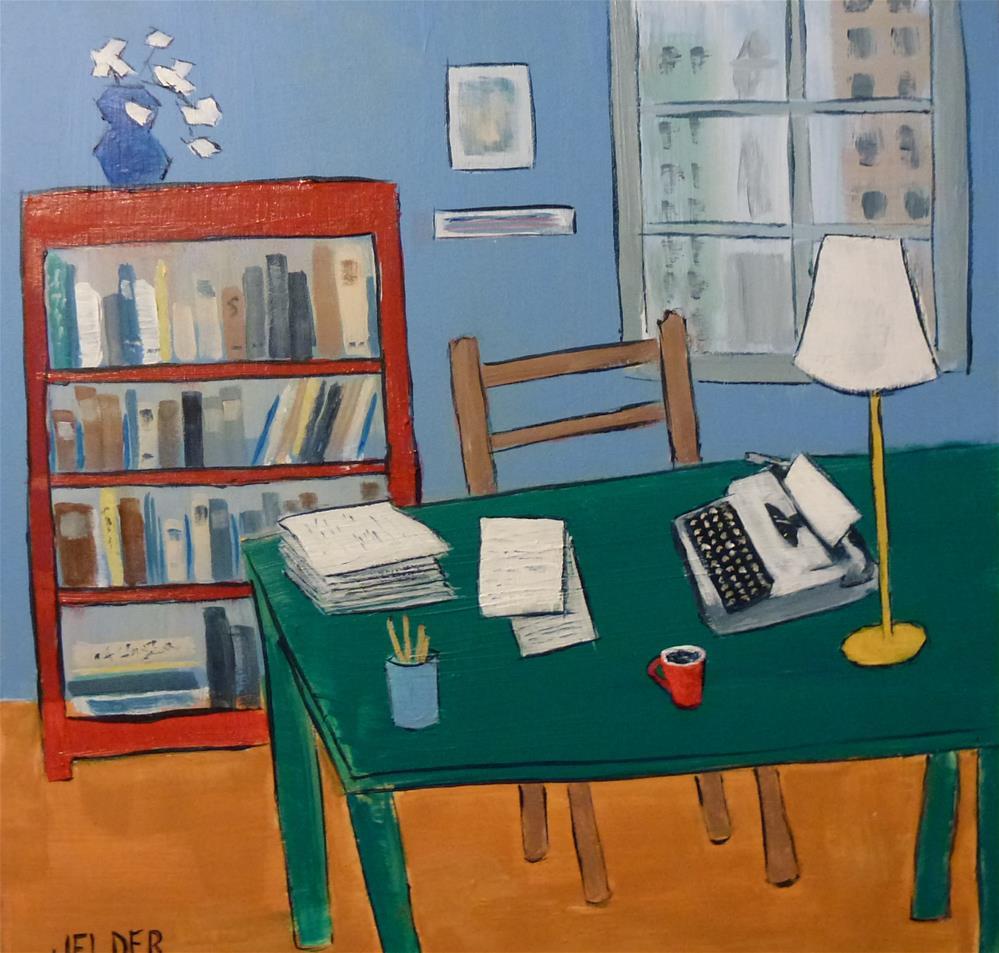 """The Writer's Desk"" original fine art by Judith Elder"