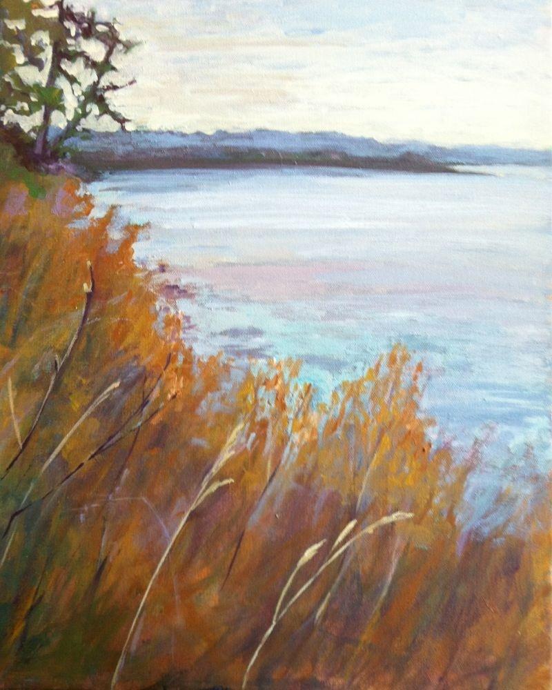 """Witty Point Beach"" original fine art by Darlene Young"