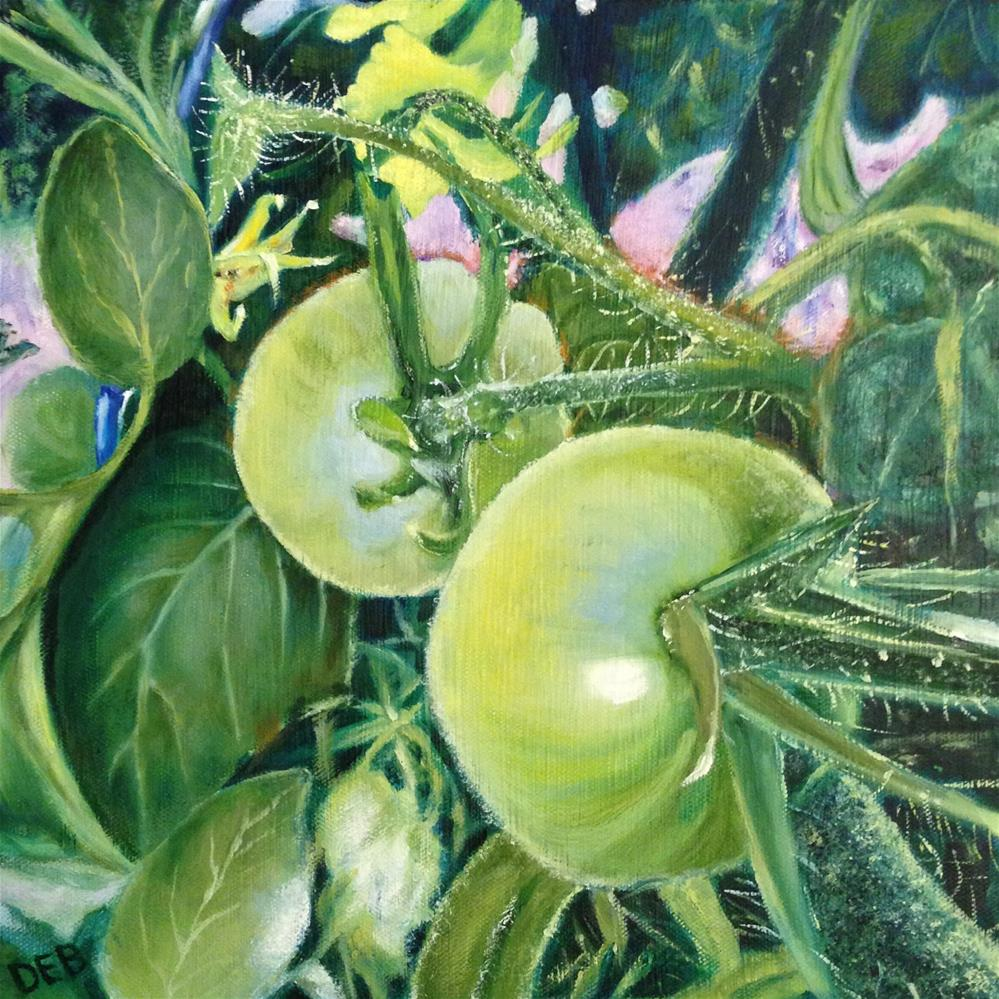 """""""Young and Green"""" original fine art by Debbie Yacenda"""