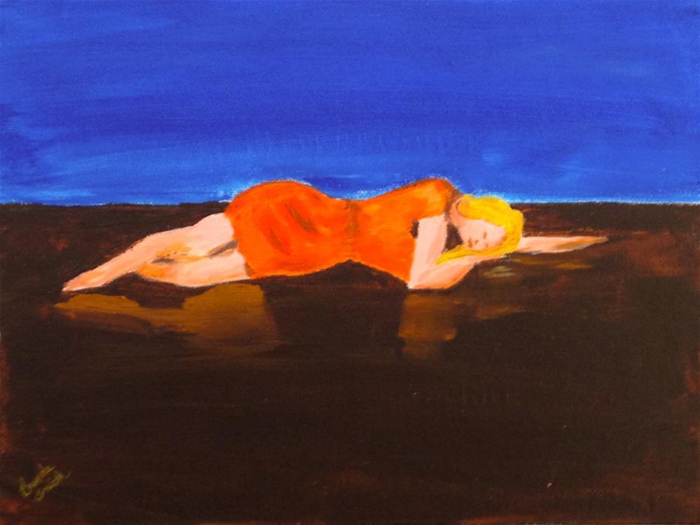 """Exhausted"" original fine art by Brenda Smith"