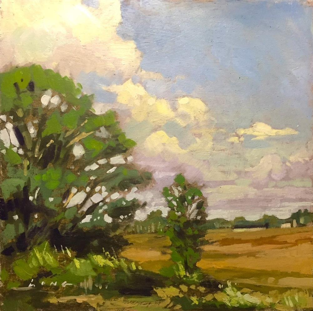 """Oregon Farm"" original fine art by Chris Long"