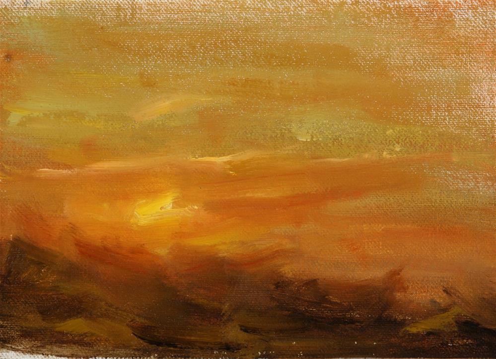 """Summer Sunrise 14"" original fine art by Scott Serafica"