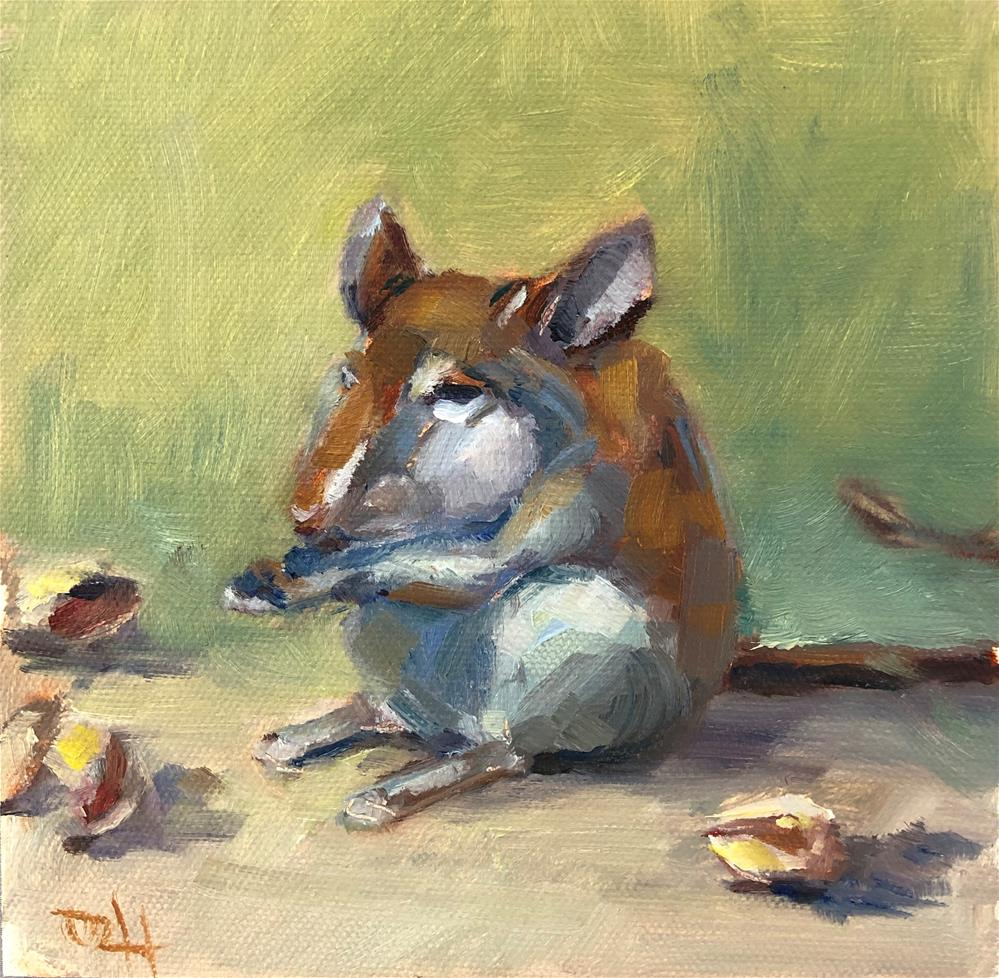 """""""A Mouse With An Attitude"""" original fine art by Olga Hegner"""
